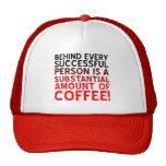 Successful Coffee Person Funny Ball Cap Hat