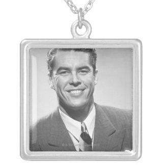 Successful Man Silver Plated Necklace