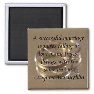successful marriage square magnet
