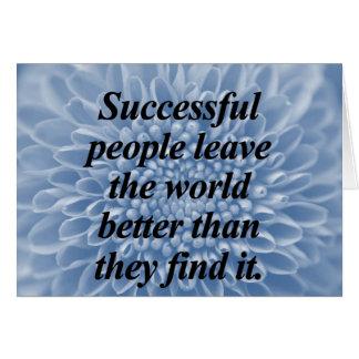Successful People Greeting Card