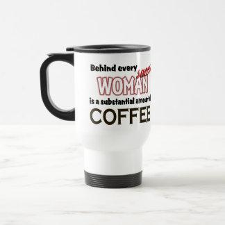 Successful woman coffee travel mug