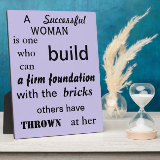 Successful Woman Plaque