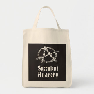 Succulent Anarchy Grocery Tote