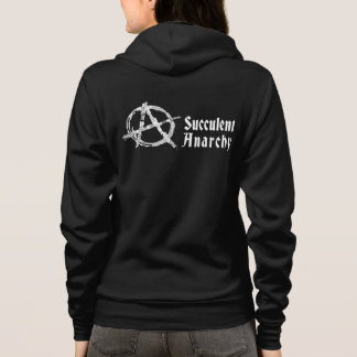 Succulent Anarchy Women's Black Hoodie