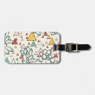 Succulent and triangles Luggage Tag