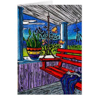 Succulent Block Print Card