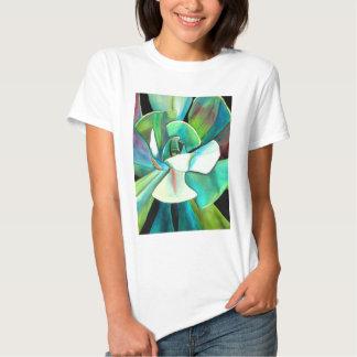 Succulent blue and green desert watercolour art shirts