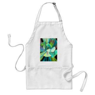 Succulent blue and green desert watercolour art standard apron