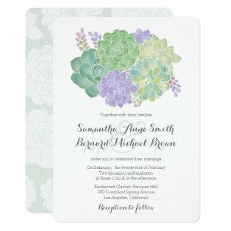 Succulent Bouquet Elegant Wedding Invitation