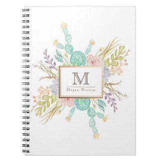 Succulent Bouquet Watercolor   Initial Notebooks