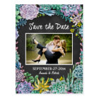 Succulent Chalkboard Wedding Save The Date Cards