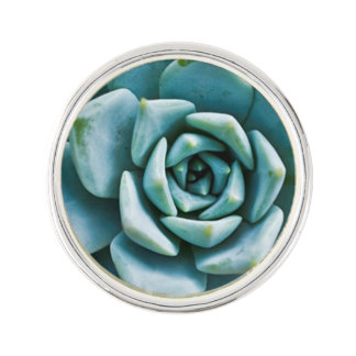 Succulent Closeup Lapel Pin