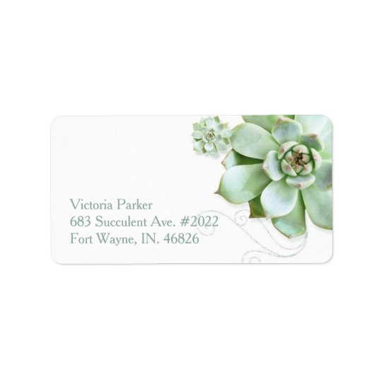 Succulent Garden Botanical Wedding Address Address Label