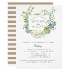 Succulent Garden | Floral Watercolor Wedding Card