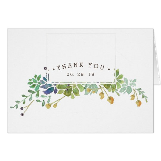 Succulent Garden | Thank You Card