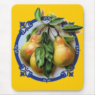 Succulent, juicy pears. A delicious mouse mat. Mouse Pad