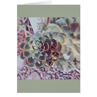 Succulent notecard - blank