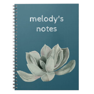Succulent Plant Watercolor Painting Notebook