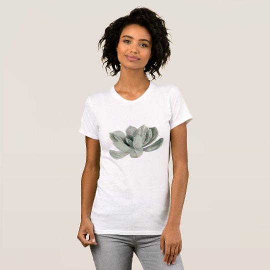 Succulent Plant Watercolor Painting T-Shirt