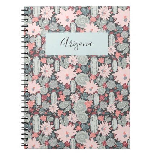 Succulent Plants Cactus Personalised Notebook
