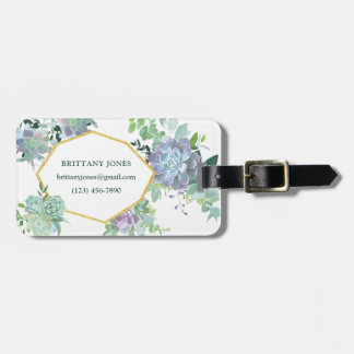 Succulent Plants Luggage Tag