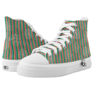 Succulent Stripes Printed Shoes