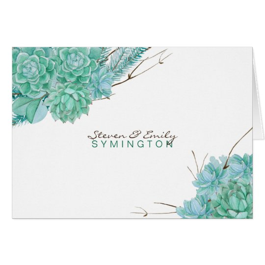 Succulent wedding thank you notes  3961
