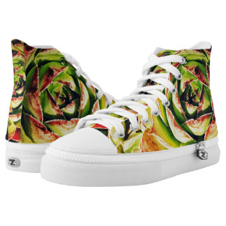 Succulent Zipz High Top Shoes