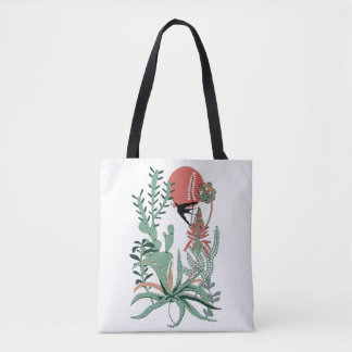 succulents at sunset tote bag