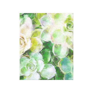 Succulents by Cindy Bendel Gallery Wrap Canvas