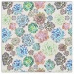 Succulents design fabric
