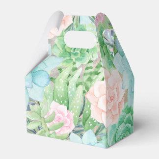 Succulents Flowers | Gorgeous Watercolor Favour Box
