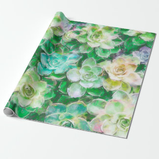 Succulents Painting by Cindy Bendel Wrapping Paper