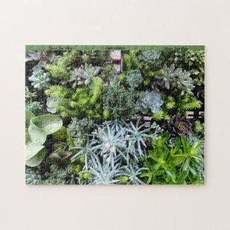Succulents Puzzle Personalize Cactus Plants
