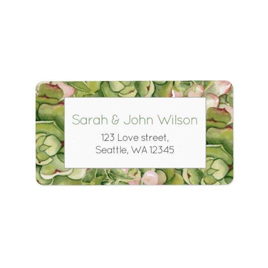 Succulents Rustic Wedding address labels