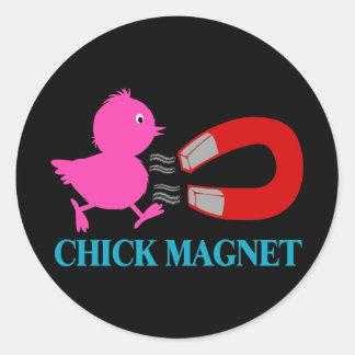 Such A Chick Magnet Round Sticker