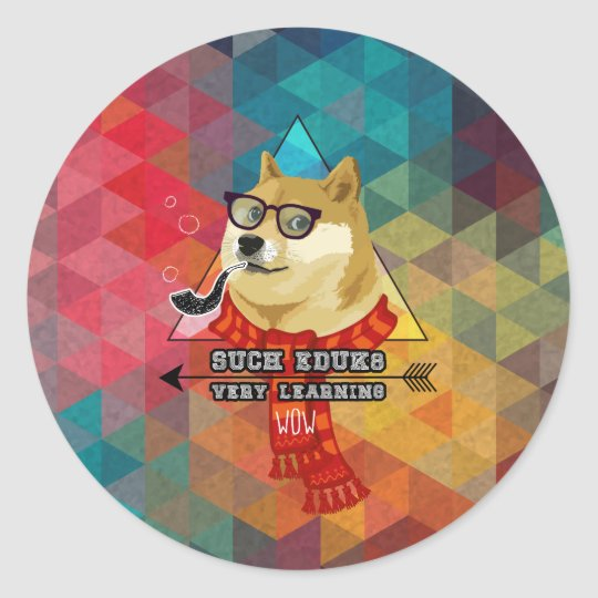 Such Doge Graduation Classic Round Sticker