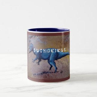 Suchomimus, S U C H O M I M U S Two-Tone Mug
