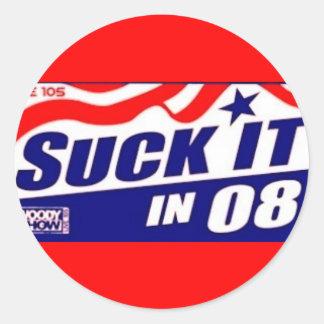 suck it 08 round sticker