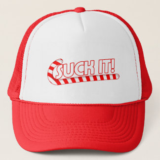 Suck It Candy Cane Trucker Hat