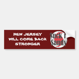 Suck it Sandy Hurricane Design Bumper Sticker
