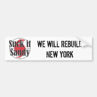 Suck it Sandy Hurricane Design Bumper Sticker