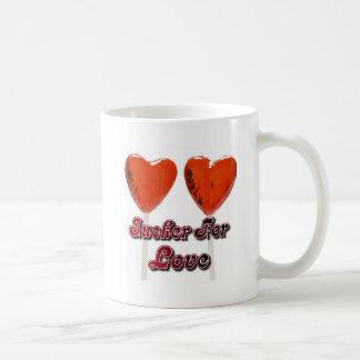 sucker for love basic white mug