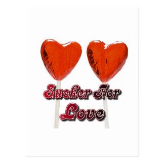 sucker for love postcard