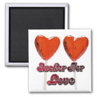sucker for love square magnet