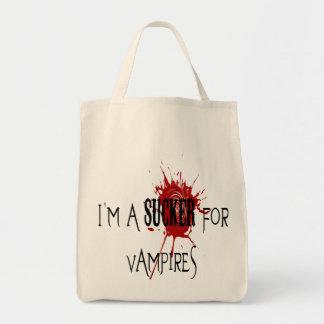 Sucker For Vampires - Organic Grocery Tote