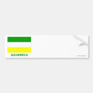 Sucumbíos flag with Name Bumper Sticker