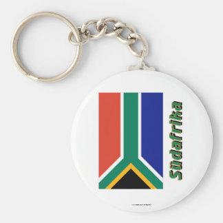 Südafrika Flagge mit Namen Key Chain