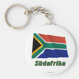 Südafrika Fliegende Flagge mit Namen Key Chain