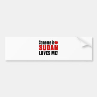 SUDAN Celebrating Years Of Being Awesome Bumper Sticker